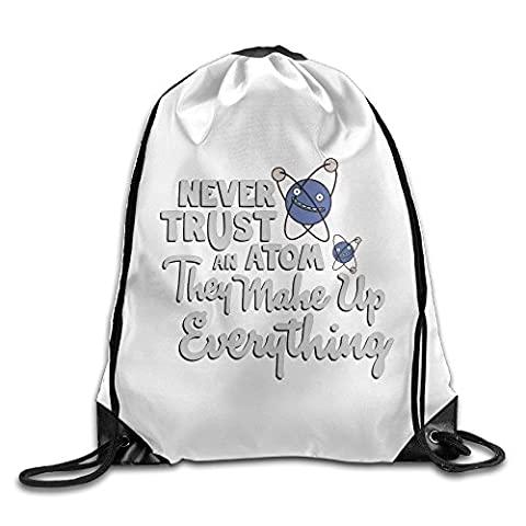 Never Trust An Atom Athletic Tote Hiking Drawstring Bag - Creek Cocktail