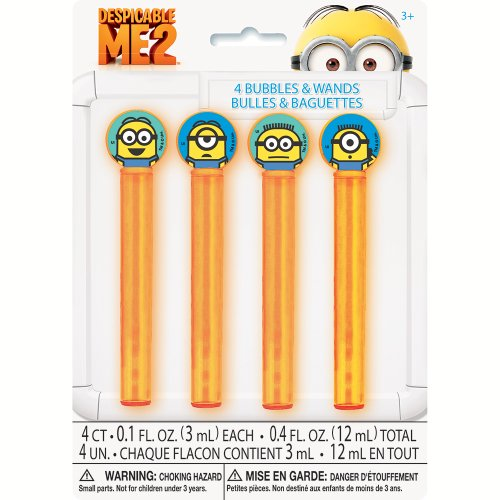 Despicable Me Minions Bubble Party Favors, 4ct 0.1 Ounce Case