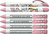 Baby Pen by Greeting Pen- Personalized Birth Announcement Pens- It's a Girl Stork Rotating Message Pen 100 pack (P-BP-24-100)