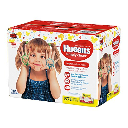 Large Product Image of HUGGIES Simply Clean Fragrance-Free Baby Wipes Soft Pack, 576 Count