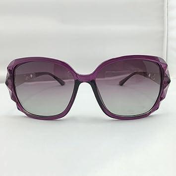 Z&YQ Gafas de sol polarizadas grandes gafas de moda marco , purple