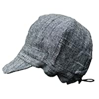 Baby newsboy cap for spring summer fall - adjustable 50+ UPF sun hat(S: 0-9M,...