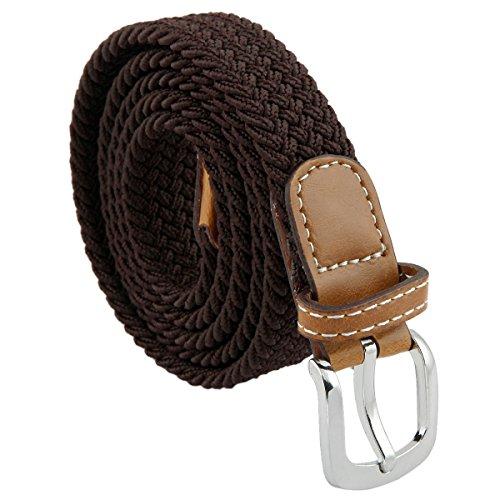 Samtree Braided Belts for Women,PU Leather Skinny Elastic Web Belt