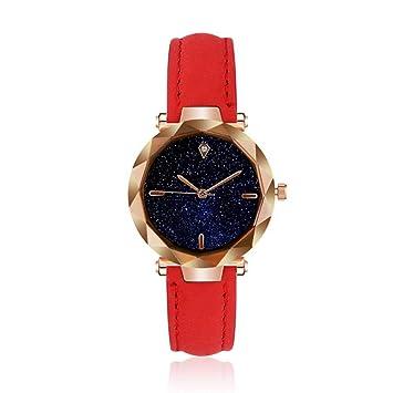 Relojes de Cuarzo con Diamantes de imitación para Mujer, Relojes de Vestir Simples para Mujer con Correa de Piel para Mujer o Negocios, Casuales: Amazon.es: ...