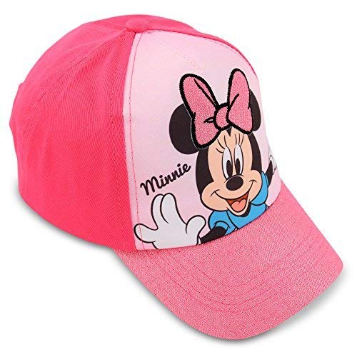 Disney Little Girls Minnie Mouse Cotton Baseball Cap, Age 4-7