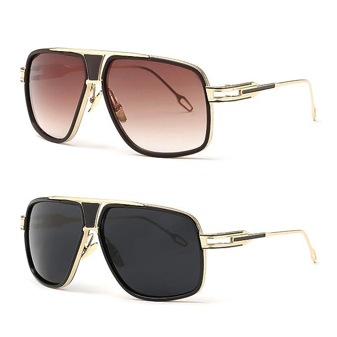 Amazon.com: AEVOGUE AE0336 - Gafas de sol para hombre con ...