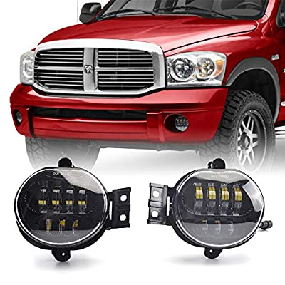 Tecoom Fog Lights Set of 2 for Ram 1500/2500/3500 Durango 2002-2008 Approved by DOT SEA Waterproof Bright 2500 lumen LED Road Off Lights: Automotive
