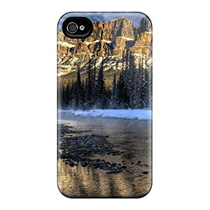 WE World Iphone 4/4s Hybrid Tpu Case Cover Silicon Bumper Canyon-winter