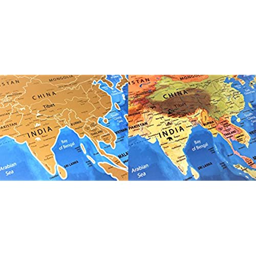 Highquality Nomadik Scratch Off World Map Poster Large OCEAN - High quality world map poster