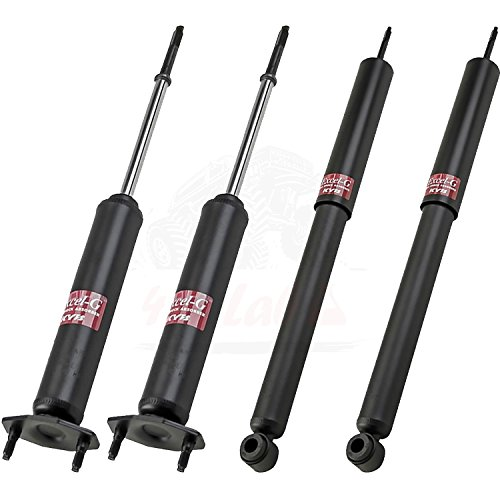 KYB Quick Mount Kit of 4 Shocks (Front + Rear) fits AMC Eagle 1980-88 GR-2/EXCEL-G Twin Tube Gas Charged part number 343156, 343149 for Replacement, Performance, Leveling, Touring & 4x4 Offroad