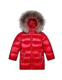 LJYH Big Boys Girls' Winter Down Parka Thick Hooded Outwear Coat