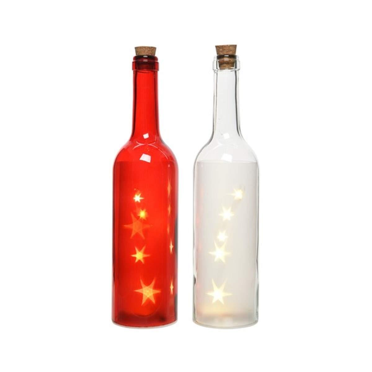 Lumineo 2 Botellas de Cristal (con iluminación de LED Que Funcionan con Estrellas: Amazon.es: Hogar