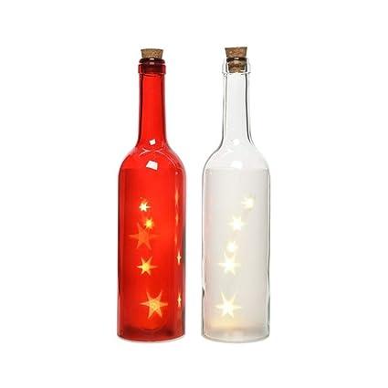Lumineo 2 Botellas de Cristal (con iluminación de LED Que Funcionan con Estrellas
