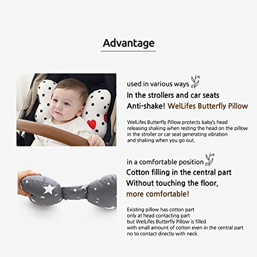 from u s a head neck support baby pillow organic cotton best headrest for car seat stroller. Black Bedroom Furniture Sets. Home Design Ideas
