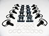 Black Chrome Race Fasteners 1/4 Turn Quick Release 10 Pack Dzus Panex 17mm D-Ring Length