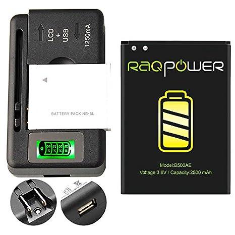 2 PCS RAQPower Durable Li-ion Battery B500BU B500BE 2500 mAh + 1 PCS Universal Charger For Samsung Galaxy S4 mini SPH-L520 MADE IN CHINA
