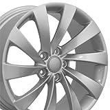 vw rims 18 - OE Wheels 18 Inch Fits Volkswagen GTI Jetta EOS CC Tiguan Rabbit Passat Golf Beetle VW CC Style VW17 Painted Silver 18x8 Rim Hollander 69890