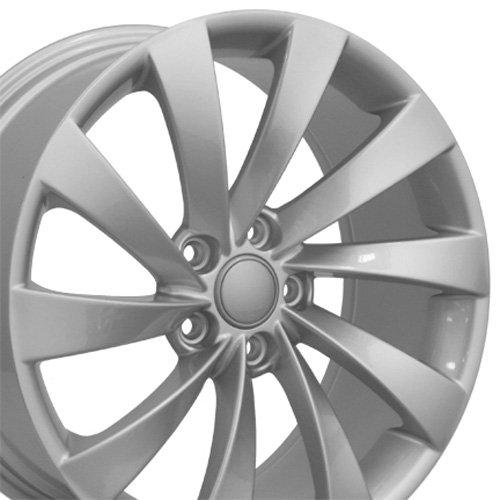Vw Wheel Rim Golf (OE Wheels 18 Inch Fits Volkswagen GTI Jetta EOS CC Tiguan Rabbit Passat Golf Beetle VW CC Style VW17 Painted Silver 18x8 Rim Hollander 69890)