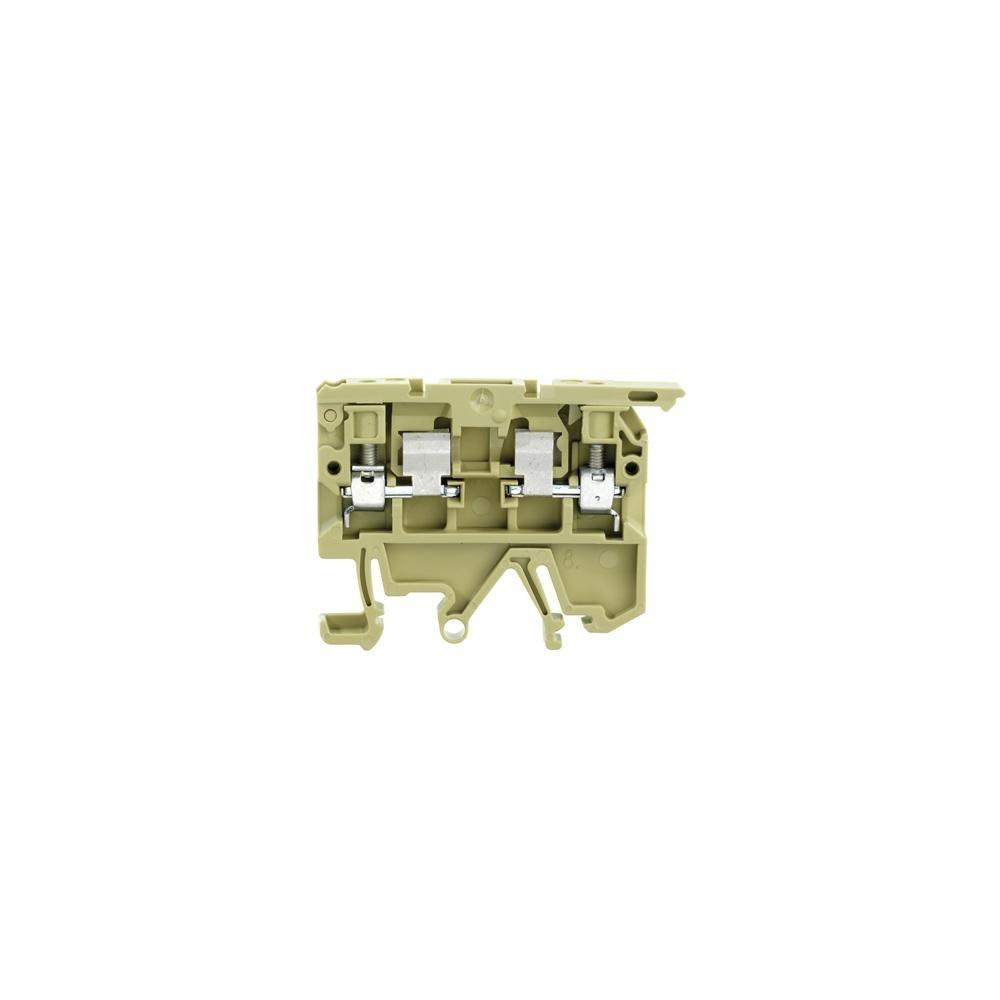 Weidmüller 0222760000 ASK 1/EN LD 15K 24VDC Borne Portafusibles, Sección Nominal 4mm², Conexión Brida-Tornillo, Montaje Directo, Caja de 25