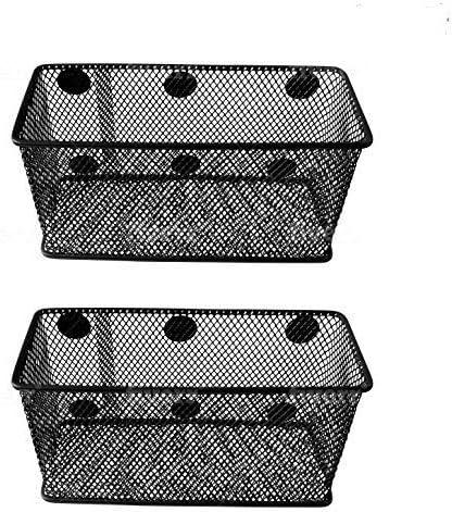 n3 Office Organizer n2 Set of 3 MyGift Silver Mesh Magnetic Storage Baskets