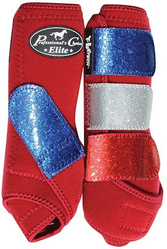 Smb Elite Rear Boots (PROFESSIONAL'S CHOICE ★ ELITE VENTECH SET OF 4 SMB BOOTS ★ ALL SIZES & COLORS (Crimson - Red White Blue Glitter,)