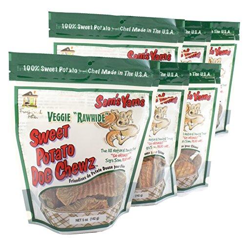 Sam's Yams Veggie Rawhide 5 oz - 6 Pack