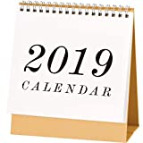 September 2018 - December 2019 Monthly Desk Pad Calendar with Stand, Twin-Wire Binding,Monthly Planners for Office,School,Family,8.66''x8.27''- (Including National Legal Holiday)