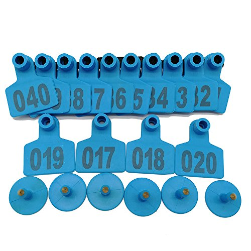 001-1000 Ear Tags Animal Identification Tags Livestock Cattle Sheep Pig Ear Mark (Blue) by General (Image #2)