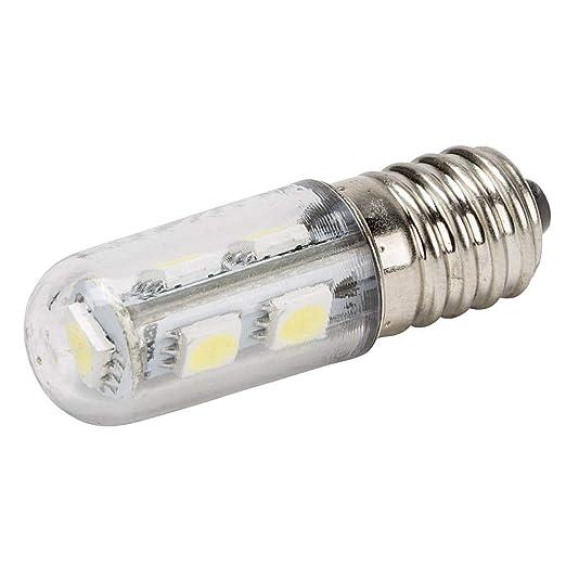 Greenice | Bombilla de LEDs E14 Pebetera 48Mm Largo 1W 100Lm 30.000H | Blanco Cálido