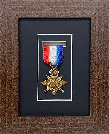 Marco de Fotos Kwik para medallas de Deportes, diseño Militar, Guerra y Medalla 3D, se Adapta a una Medalla - Marco de Madera de Caoba: Amazon.es: Hogar