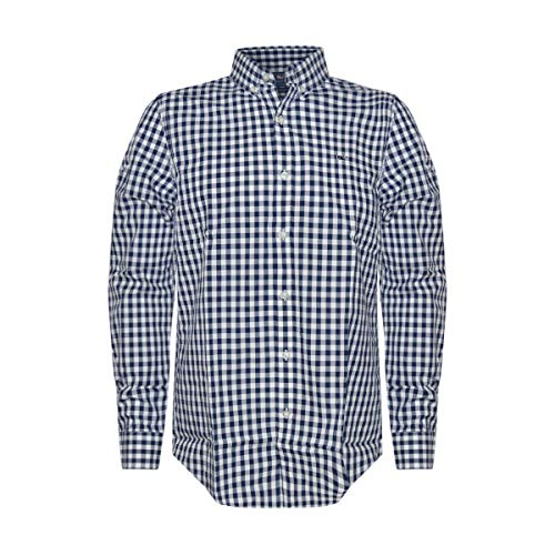 Vineyard Vines Men's Slim Fit Whale Shirt Button Down Dress Shirt (Rome Check, L) from Vineyard Vines