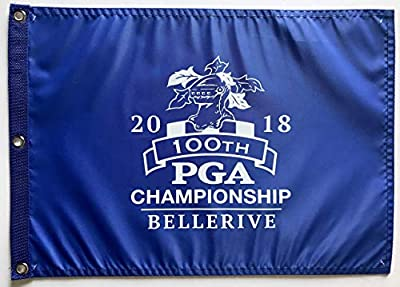 2018 Pga Championship flag 100th Bellerive golf royal blue pin flag rare