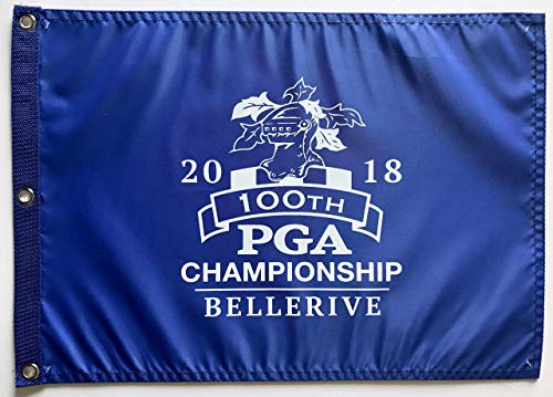2018 Pga Championship flag 100th Bellerive golf royal blue pin flag rare