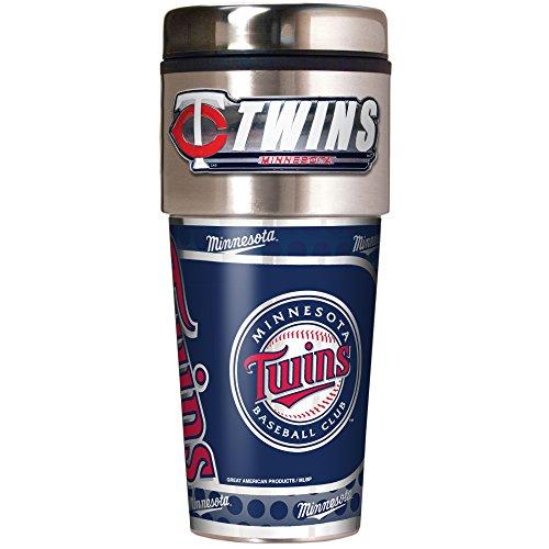 MLB Minnesota Twins Metallic Travel Tumbler,  16-Ounce