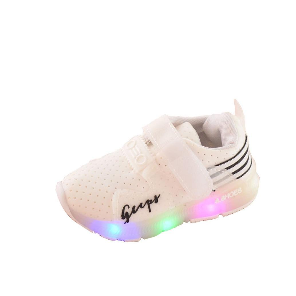 ❤️Chaussures de Enfants Bébé, Amlaiworld Sport Running Chaussures de Bébé Garçons Filles LED Chaussures Lumineuses Sneakers Chaussures premiers pas Baskets Pour 6 Mois-6 Ans (21, Rose)