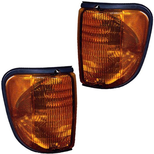 (2003-2007 Ford Econoline E-Series Van E150 E250 E350 E450 E550 Super Duty & Club Wagon (From 12/3/2002 production date) Park Corner Light Turn Signal Marker Lamp Set Pair Left Driver AND Right Passenger Side (2003 03 2004 04 2005 05 2006 06 2007 07))