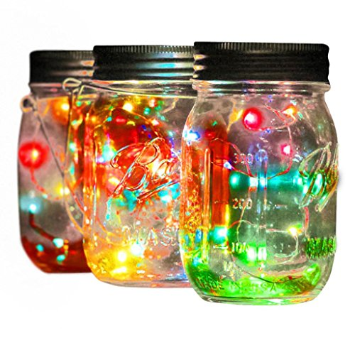 Solar Lantern Lights Metal Sunwind With Multicolor LED Fairy String Lights Outdoor Decorative Table Lamp By Rambling (Fairy Accent Lamp)