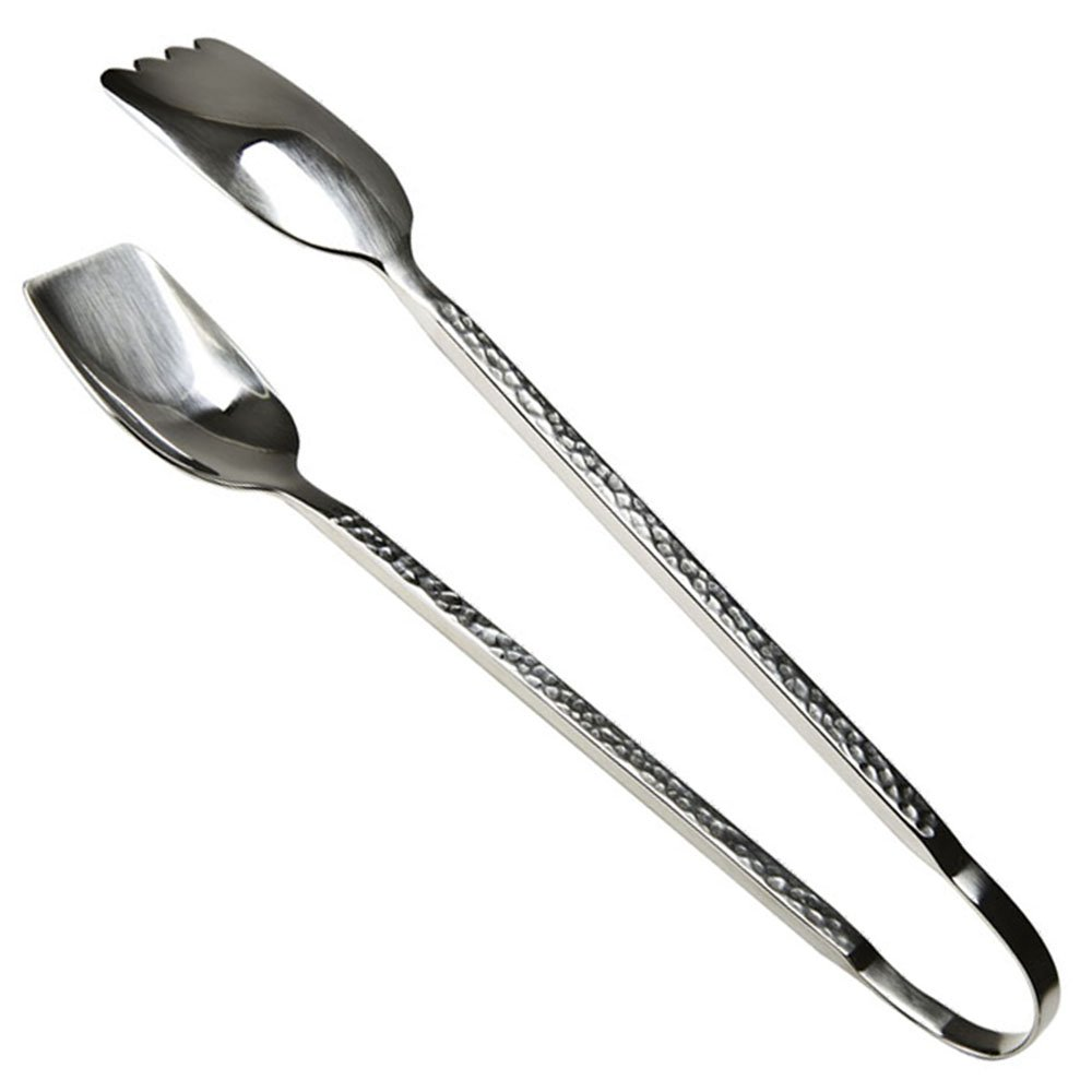 Modern Chalet Hammered Buffet Salad Tongs