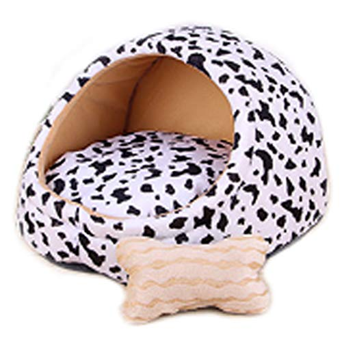 Pequeño y Mediano tamaño para Mascotas Pet Nest Extraíble y Lavable Patrón Blanco Estera de Verano Cuatro Estaciones Cama...