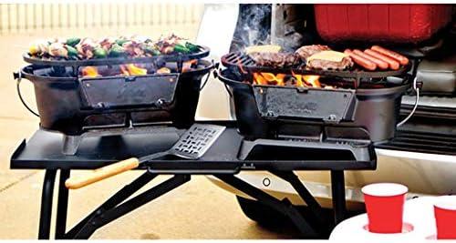 Guoguocy Grills électriques Barbecue, Barbecue au Charbon Portable, Moulage Iron Grill Uncoated, extérieur/intérieur, 44cm