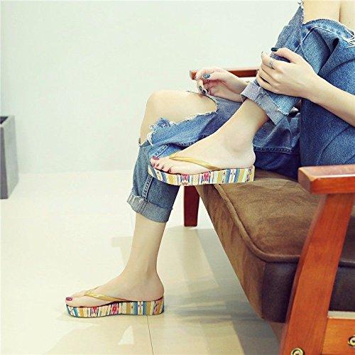 Multicolor flip di la coreana di italiana moda fresco spesso flop La di l'estate fondo pantofole XZ e il Nuovi prodotti LIUXINDA versione nuova il skid pendenza tPq4n