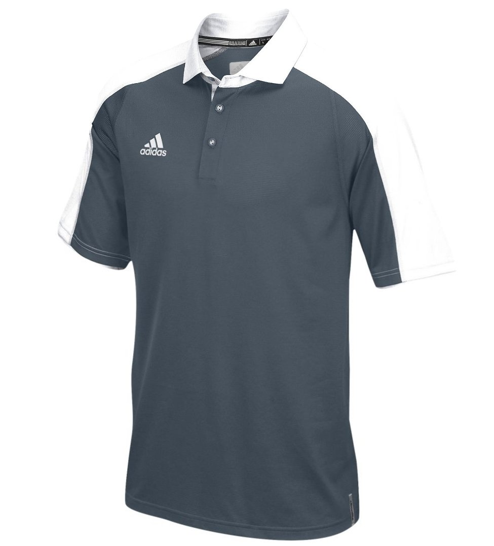 Adidas Climalite moderne Varsity Polo, puissance Rouge/blanc, S, Homme, White/Onix