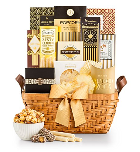 Gourmet Food & Snack Gift Basket by GiftTree | Award-Winning Gifts | Includes Almond Roca, Italian Biscotti, Sweet Popcorn, Creme Caramels & Savory Snack Mixes | Holiday, Christmas, Corporate by GiftTree