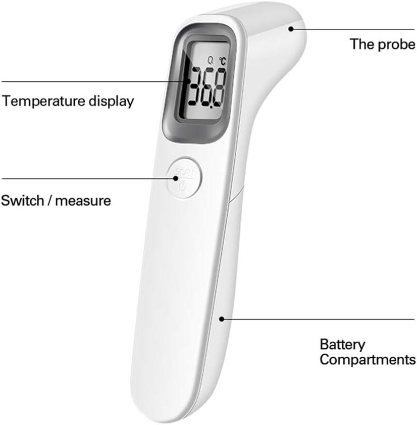 HBIAO Stirnthermometer Digitales elektronisches ber/ührungsloses Infrarot-K/örpertemperatur-Fiebermessger/ät Baby Adult
