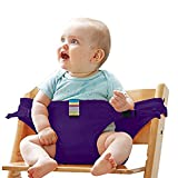 Portable Baby Feeding Chair Belt Toddler Safety Seat with Straps Child Chair Belt Travel High Chair Booster Portable Baby Seat belt #01-007 (purple)