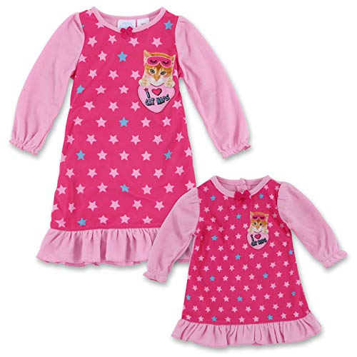 Dream with Me Matching Doll Nightgown Set- Kitten 2T