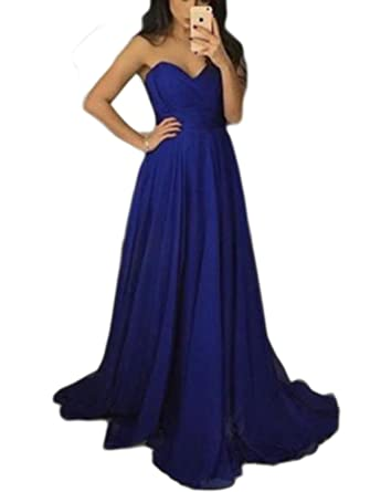 Veilace Women's Navy Blue Bridesmaid Dress