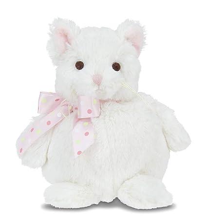 Amazon Com Bearington Baby Meow Plush Stuffed Animal White Kitty
