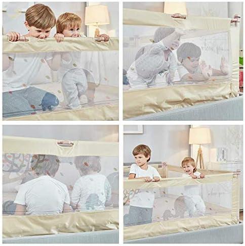 幼児ガードエクストラロング安全ベッド用ベッドレール、子供寝具バーベビーネッティングバー折り畳み式の安全性、男の子と女の子のための補強されたアンカー付きベッドレール (Size : 1.8m)