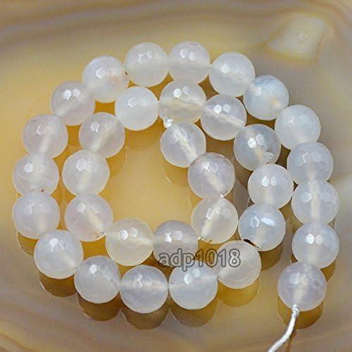 AD Beads Beautiful Natural Matte Gemstone Round Spacer Loose Beads 4-12mm 4mm, 02 Matte Cloud Crystal Quartz